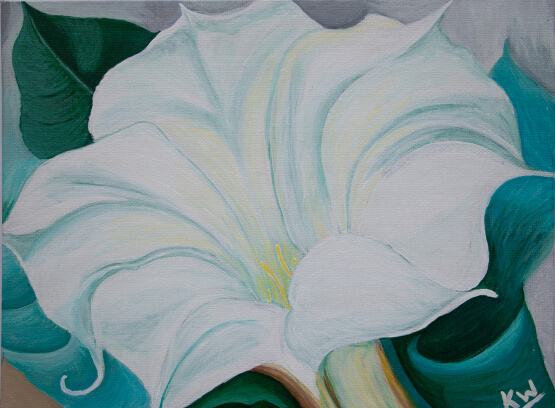 Reproduction of georgia okeeffe white trumpet flower painting a reproduction of georgia okeeffe white trumpet flower painting mightylinksfo